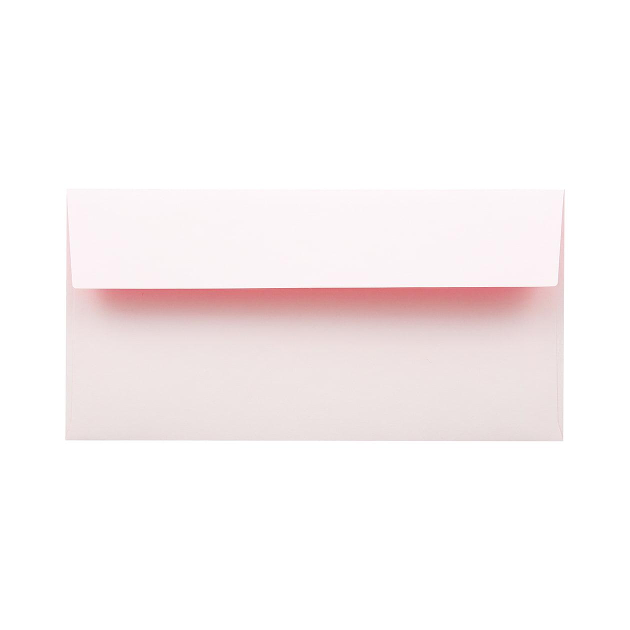 長3カマス封筒 フラッシュカラー ホワイト×ピンク 100g