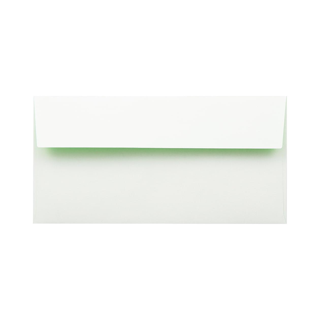 長3カマス封筒 フラッシュカラー ホワイト×キミドリ 100g