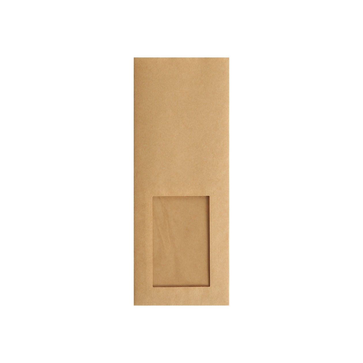 平袋90×235窓付 未晒(みざらし)クラフト 70g