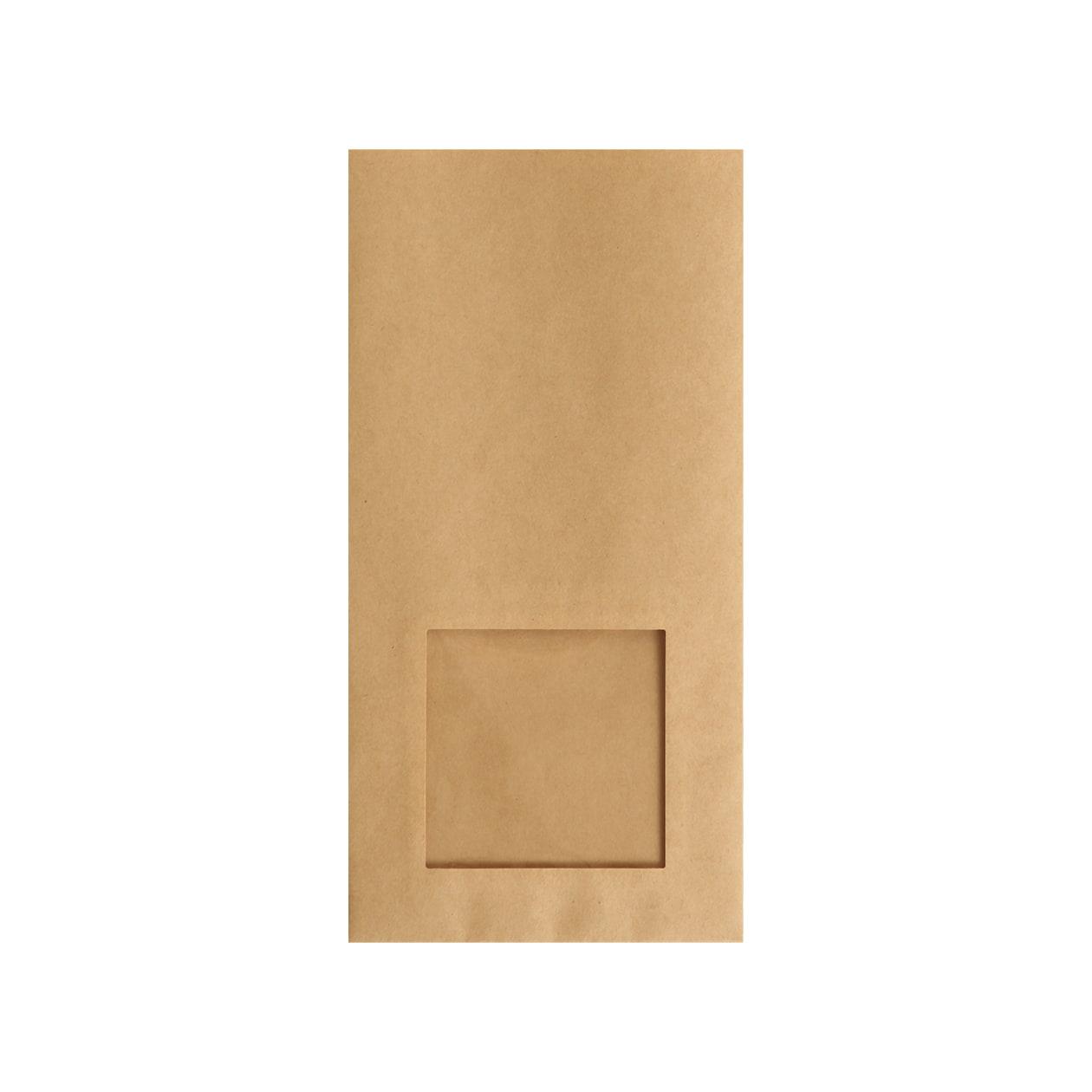 平袋125×250窓付 未晒クラフト 70g