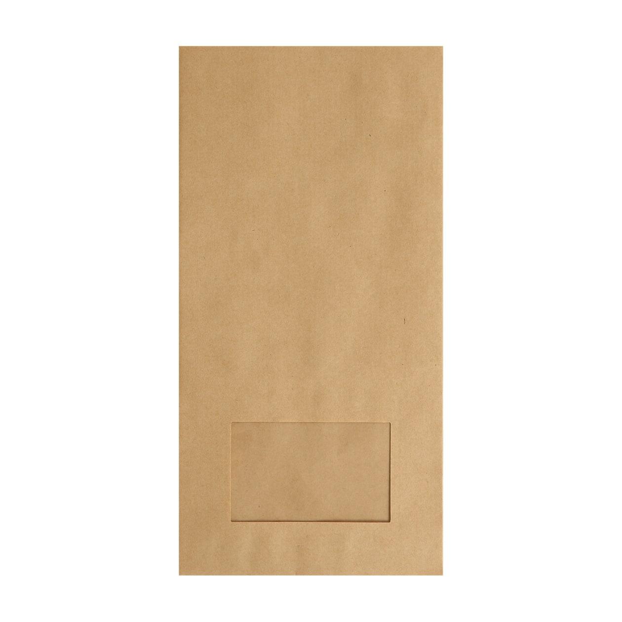 平袋160×320窓付 未晒(みざらし)クラフト 70g