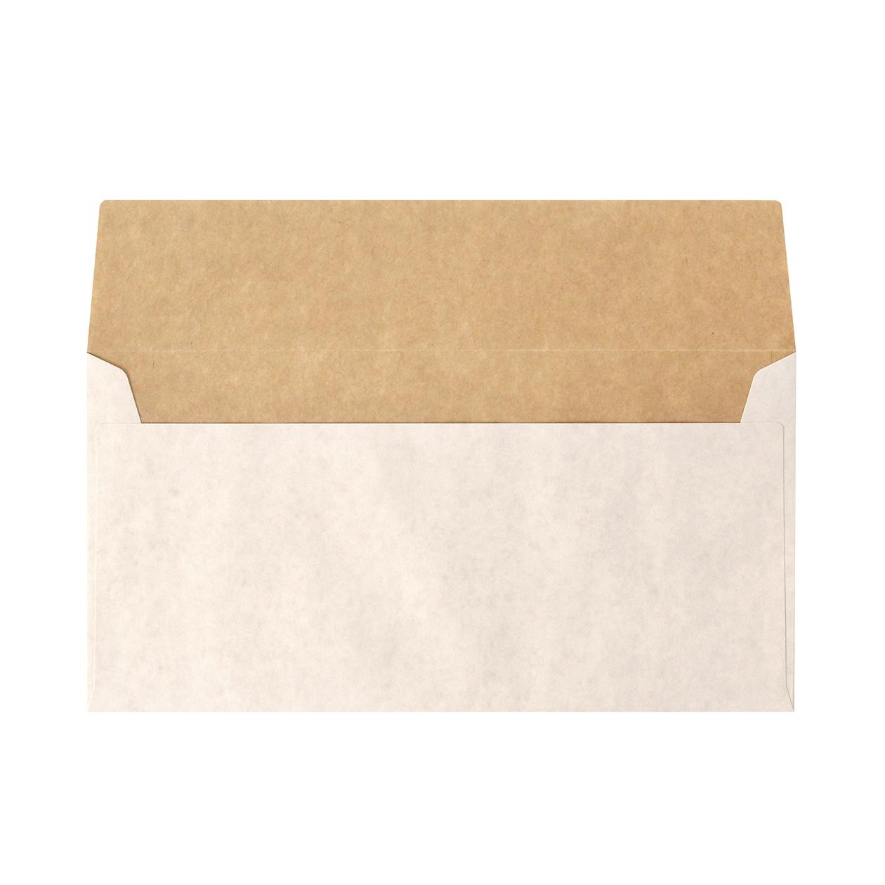 長3カマス封筒 ホワイトクラフト 100g