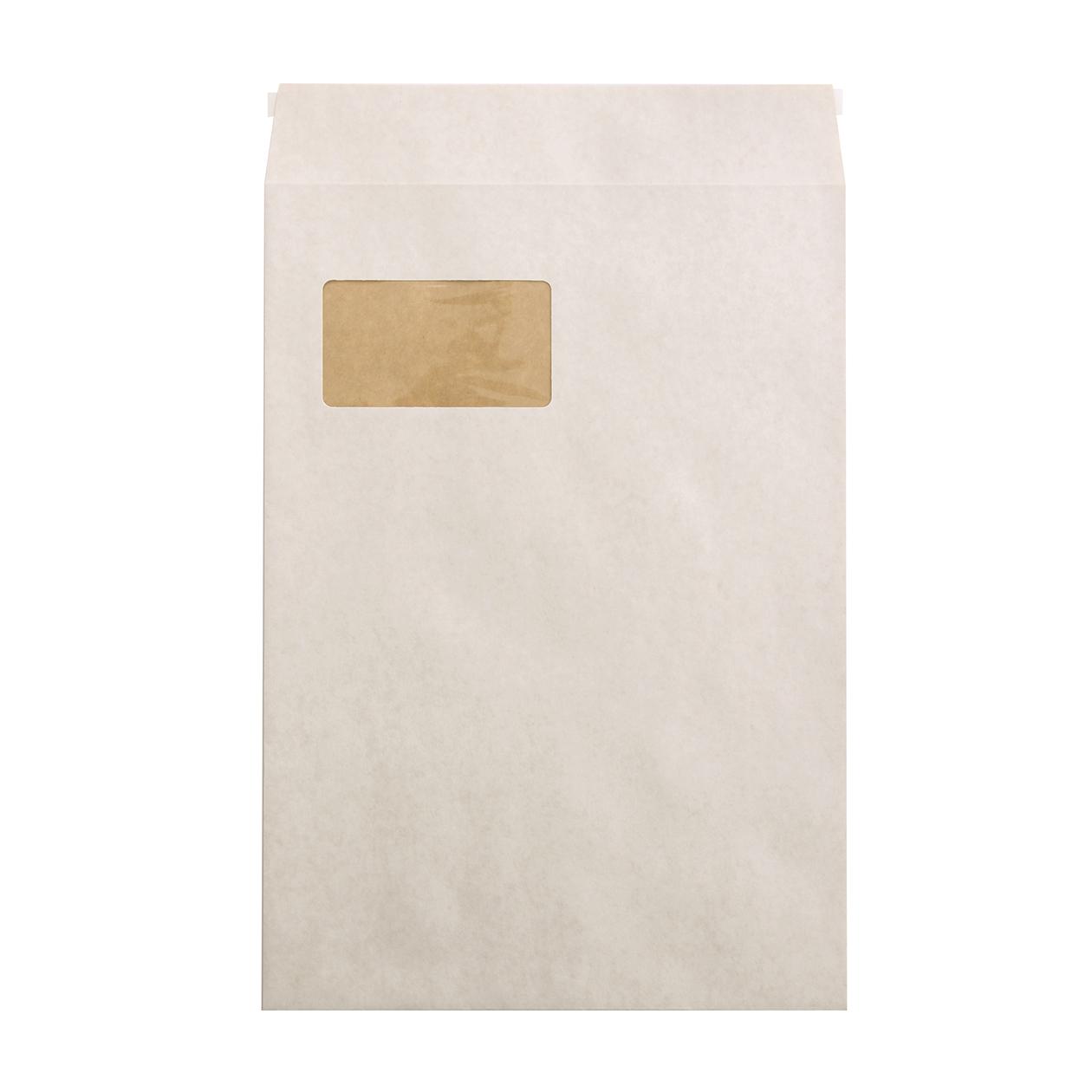 角20窓封筒 ホワイトクラフト 100g テープ有
