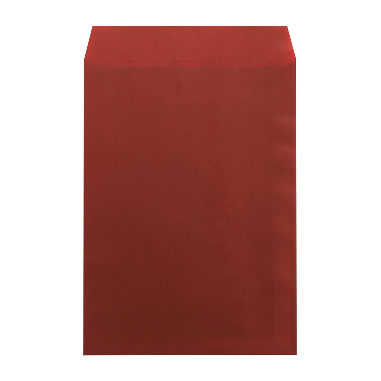 角2封筒 クラフトロウ引き レッド