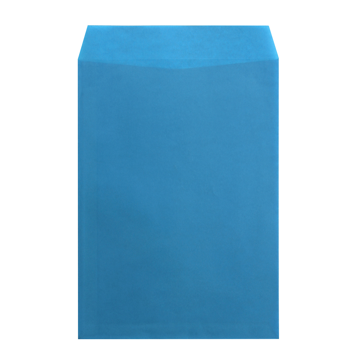 角2封筒 クラフトロウ引き ブルー