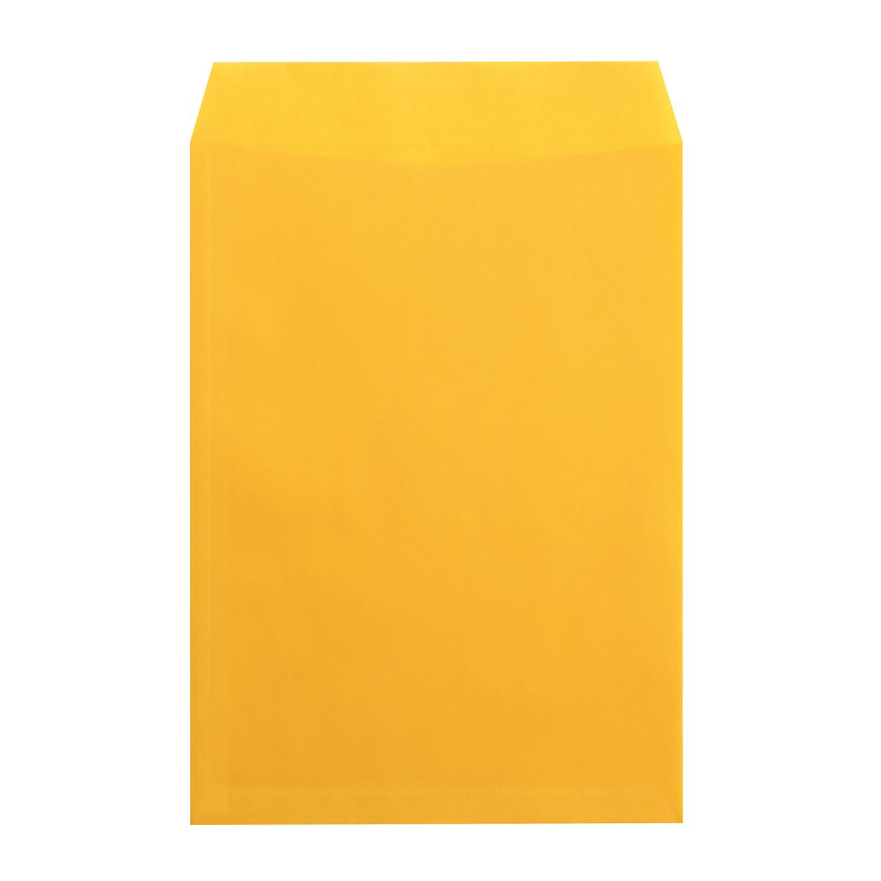 角2封筒 クラフトロウ引き イエロー