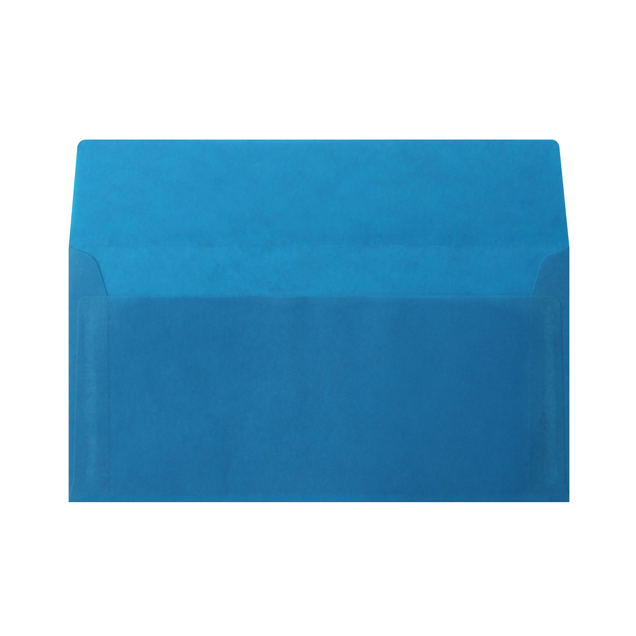長3カマス封筒 クラフトロウ引き ブルー