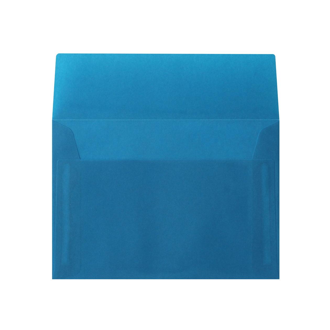 洋2カマス封筒 クラフトロウ引き ブルー