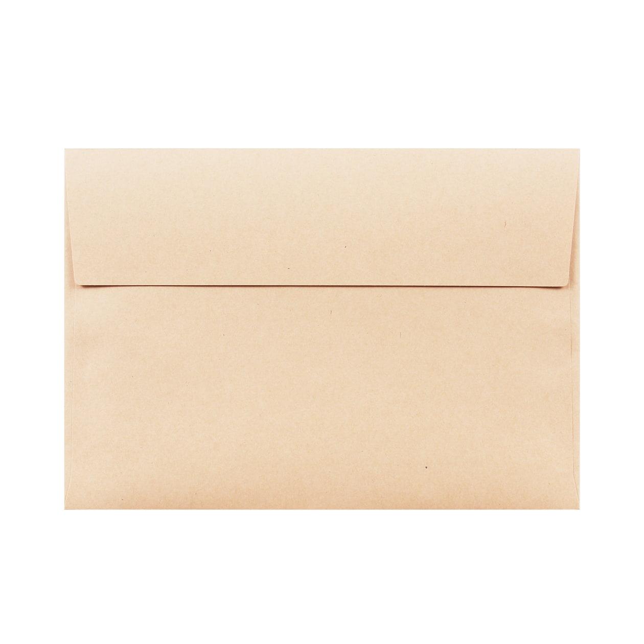 角6カマス封筒 HAGURUMA Basic ウッドブラウン 100g