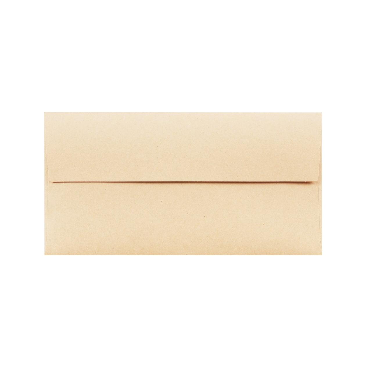 洋6カマス封筒 HAGURUMA Basic ウッドブラウン 100g