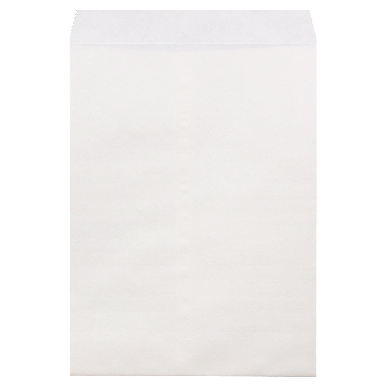 角0封筒 HAGURUMA Basic プレインホワイト 100g センター貼