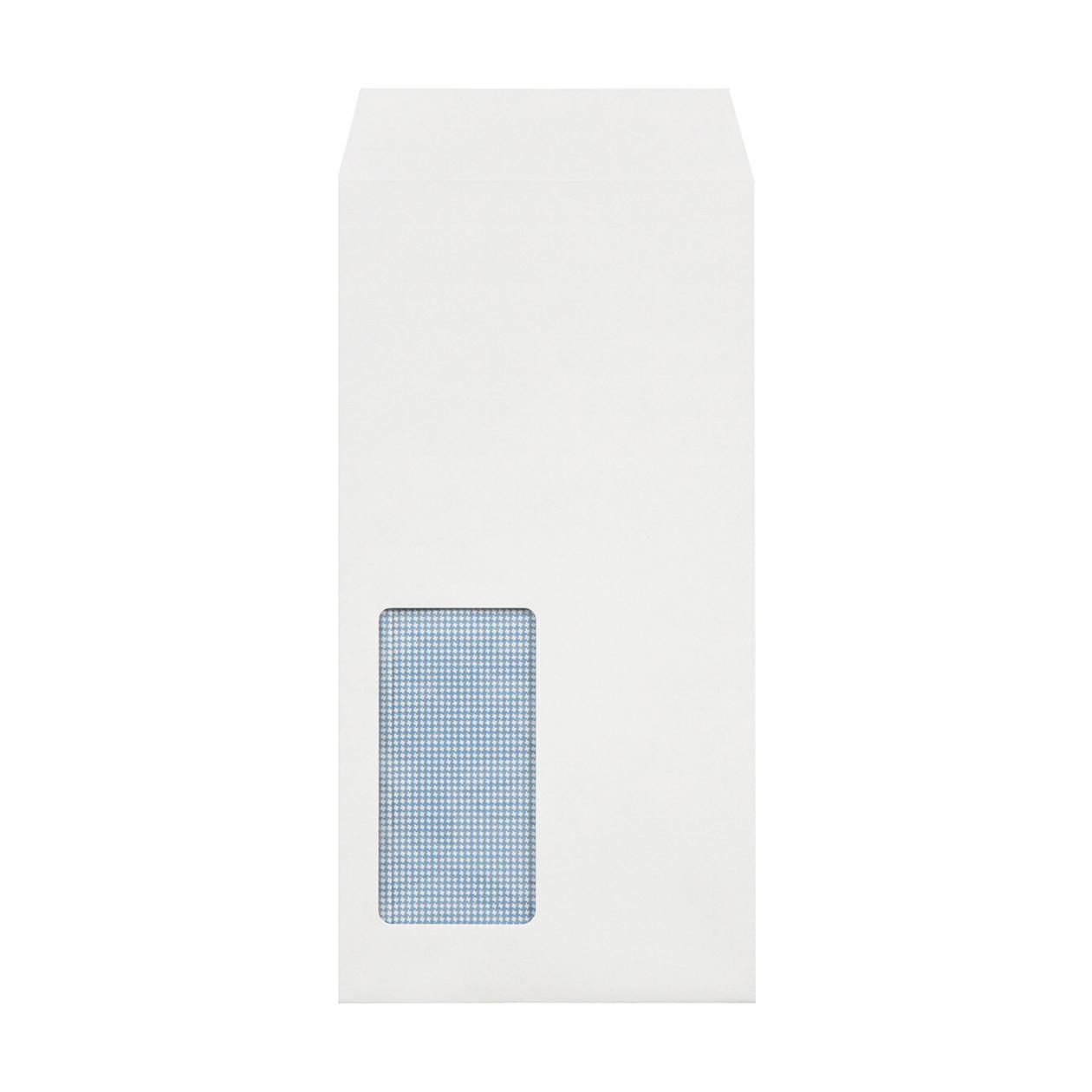 長3窓封筒 HAGURUMA Basic プレインホワイト 100g 地紋有