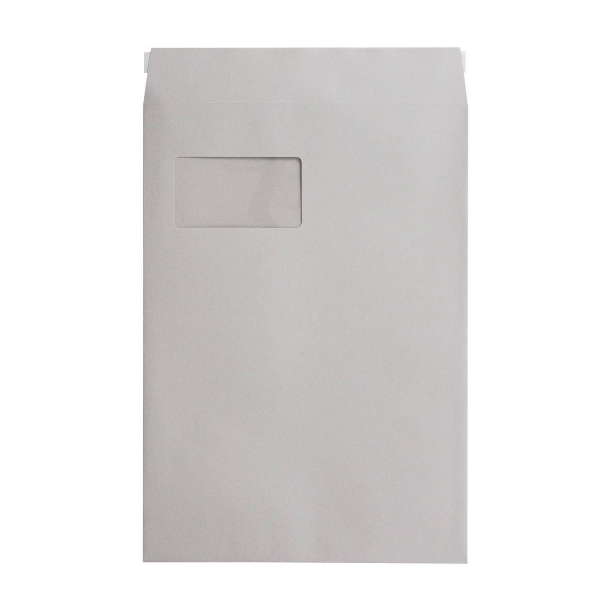 角20窓封筒 HAGURUMA Basic ライナーグレイ 100g テープ有