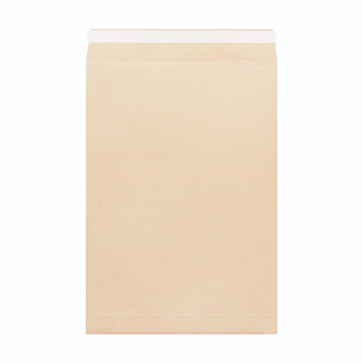 角20窓封筒 HAGURUMA Basic ウッドブラウン 100g テープ有