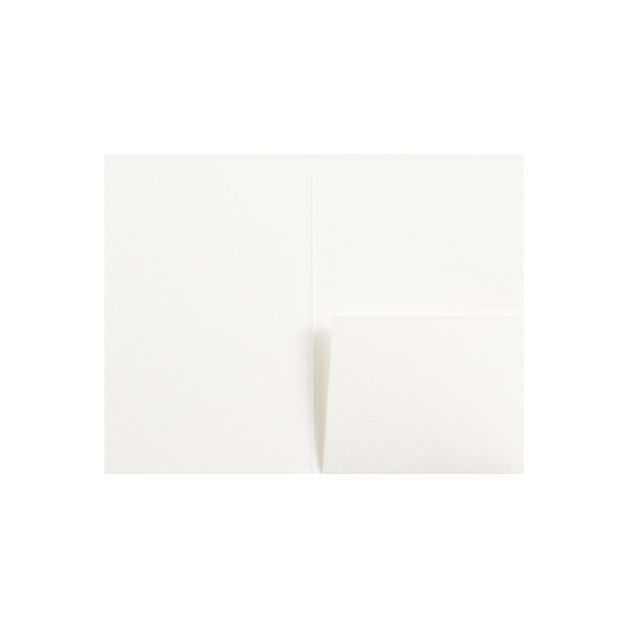 カードフォルダー 1ポケット HAGURUMA Basic プレインホワイト 260g