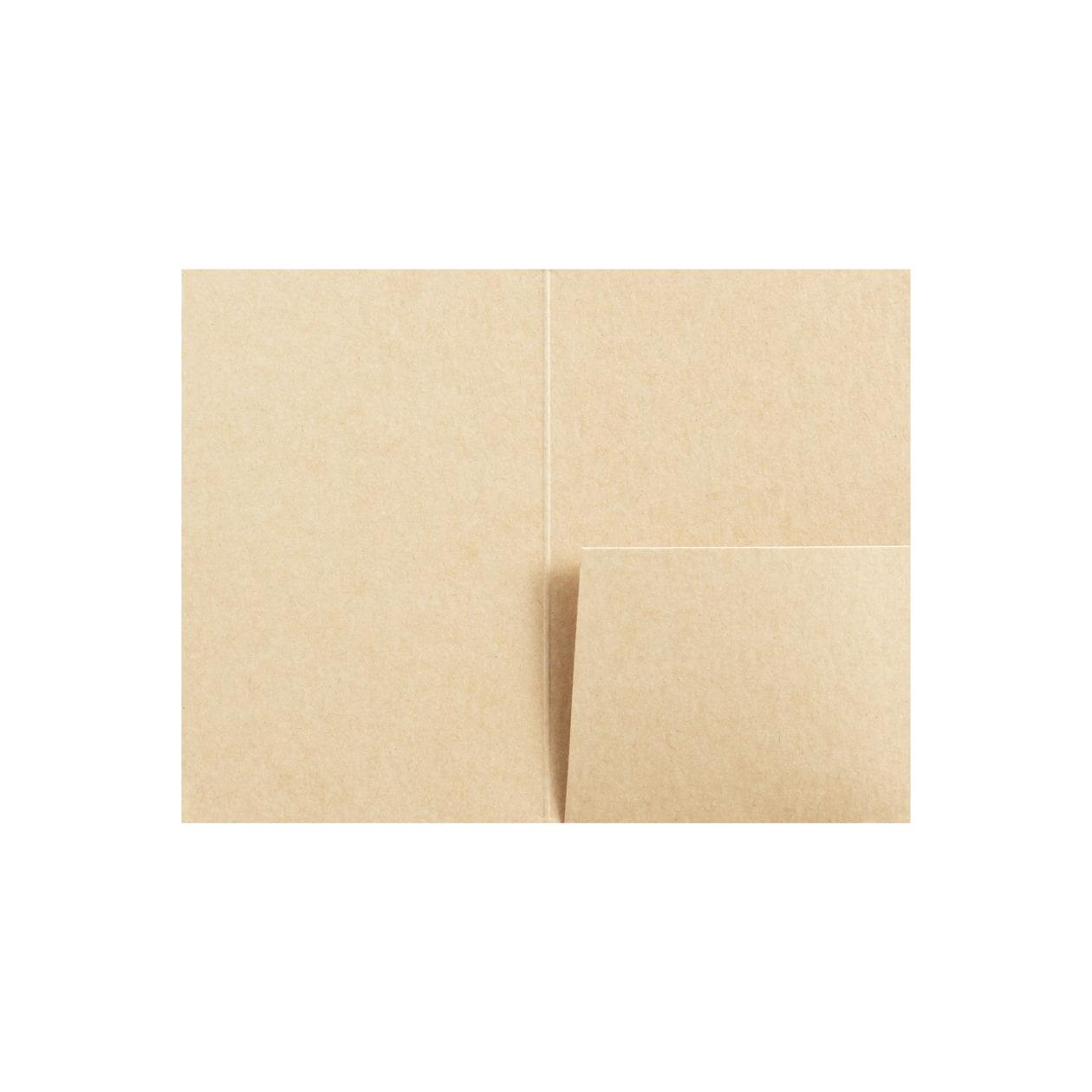 カードフォルダー 1ポケット HAGURUMA Basic ウッドブラウン 260g
