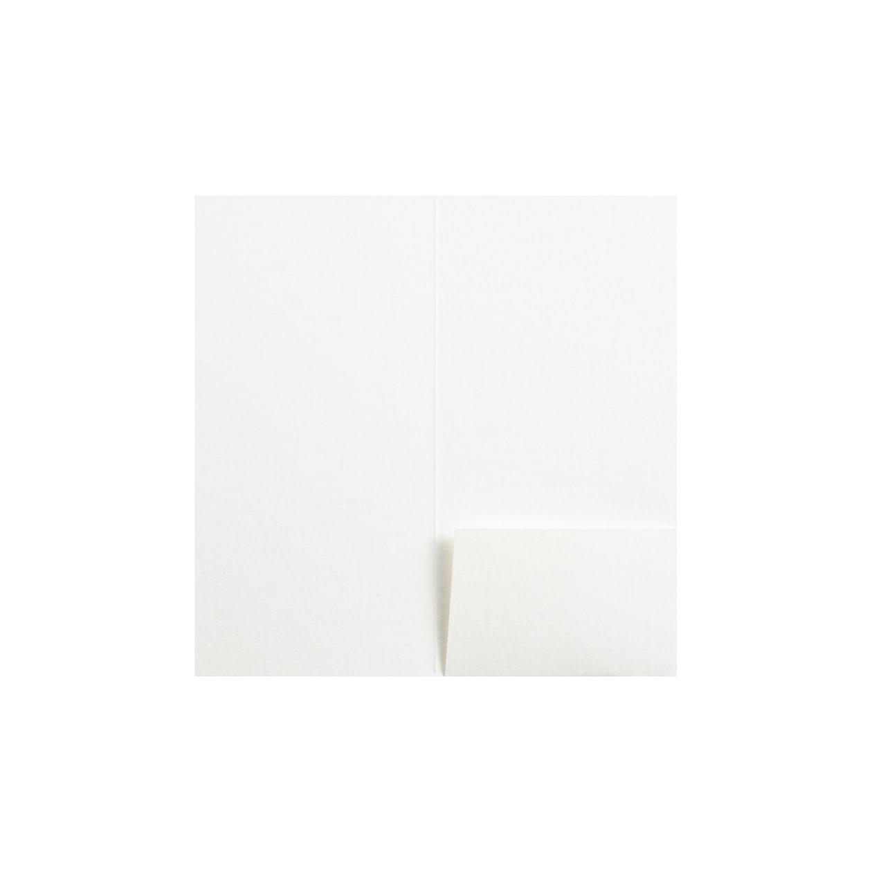 A6細フォルダー 1ポケット HAGURUMA Basic プレインホワイト 260g