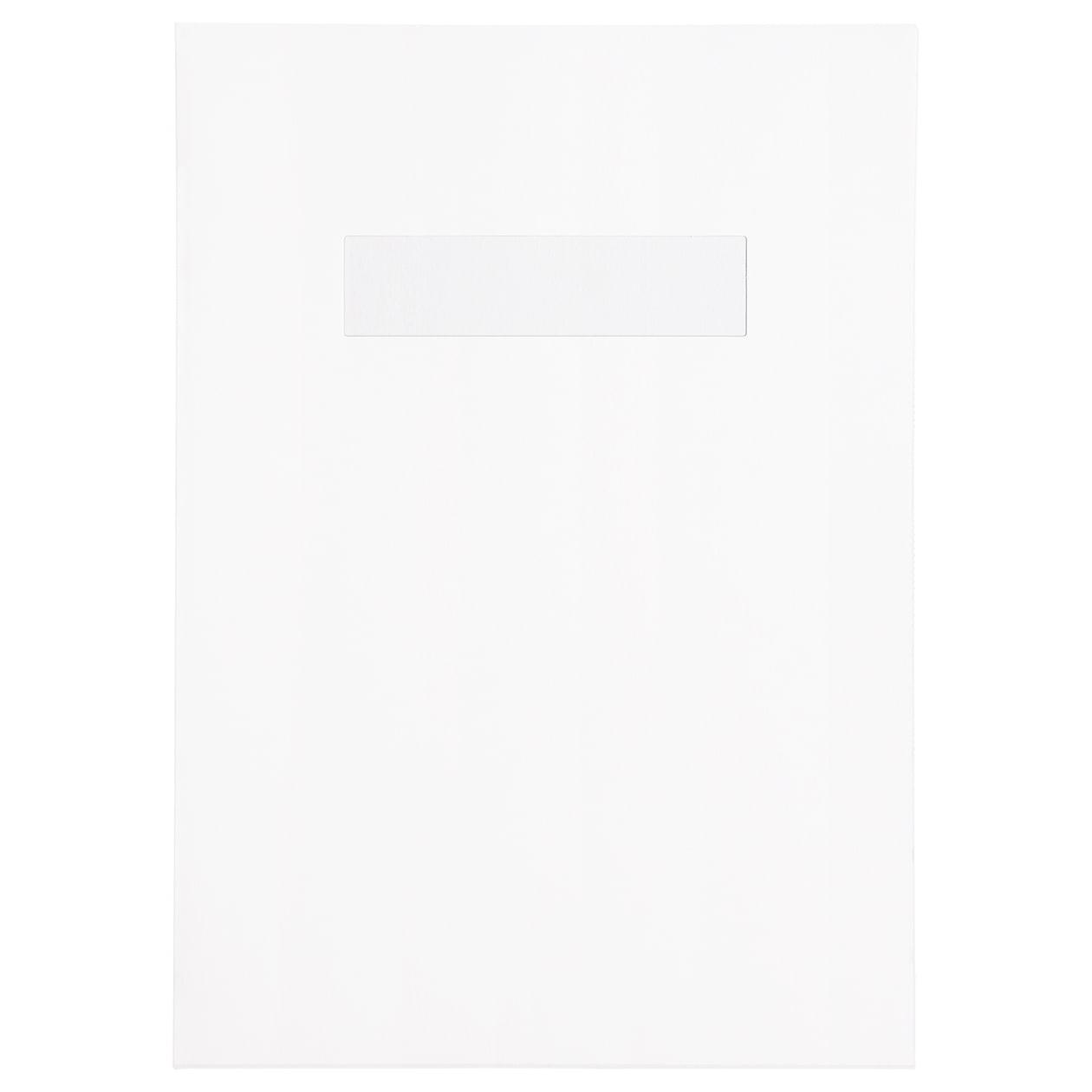 A4ファイル窓付 HAGURUMA Basic プレインホワイト 150g