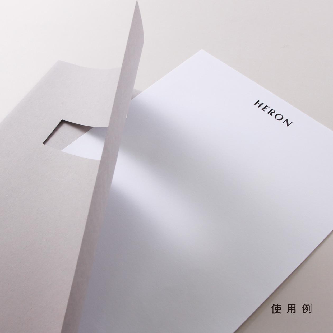 A4ファイル窓付 HAGURUMA Basic ライナーグレイ 150g