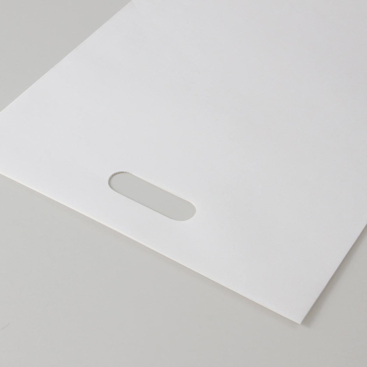 平袋B4用持ち手付 HAGURUMA Basic プレインホワイト 100g