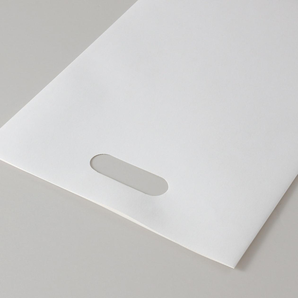 平袋A4用持ち手付 HAGURUMA Basic プレインホワイト 100g