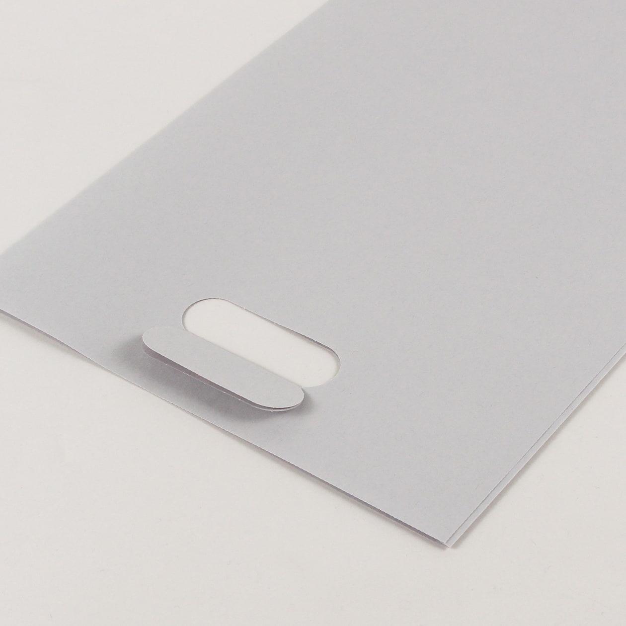 平袋A4用持ち手付 HAGURUMA Basic ライナーグレイ 100g