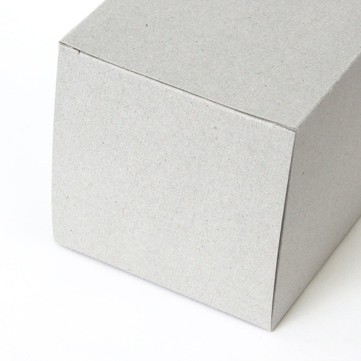 キャラメル箱80×80×80 ボード紙 グレー 270g
