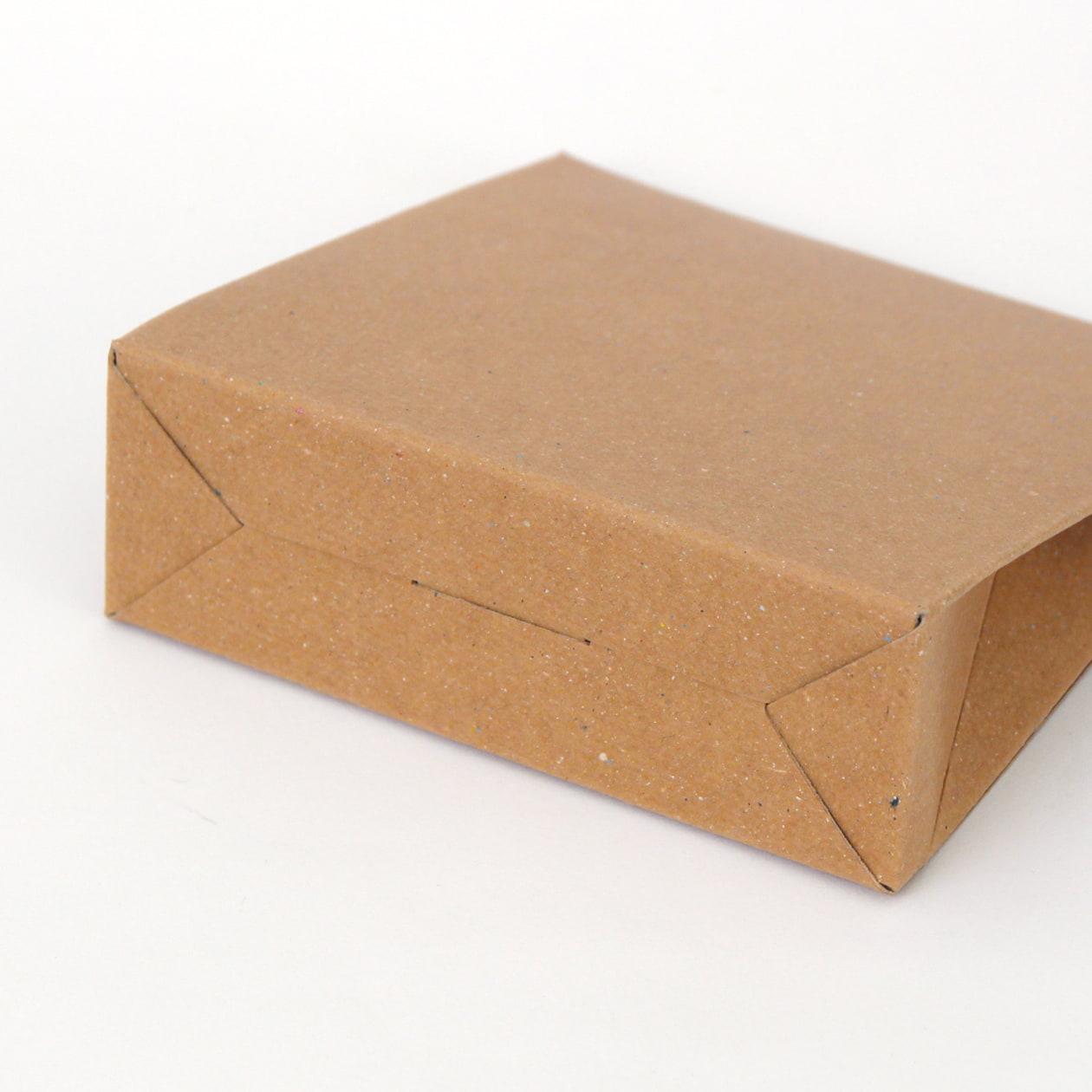 角底箱ロック式90×90×30 ボード紙 ブラウン 270g