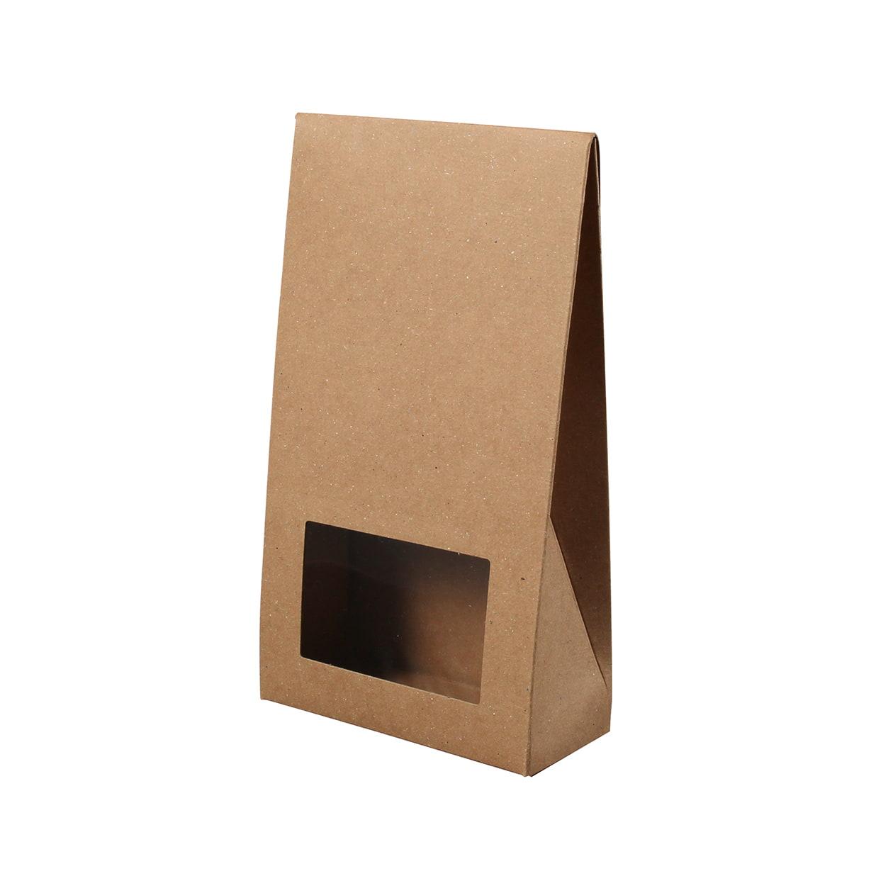 角底箱ロック式90×160×40 窓付 ボード紙 ブラウン 270g