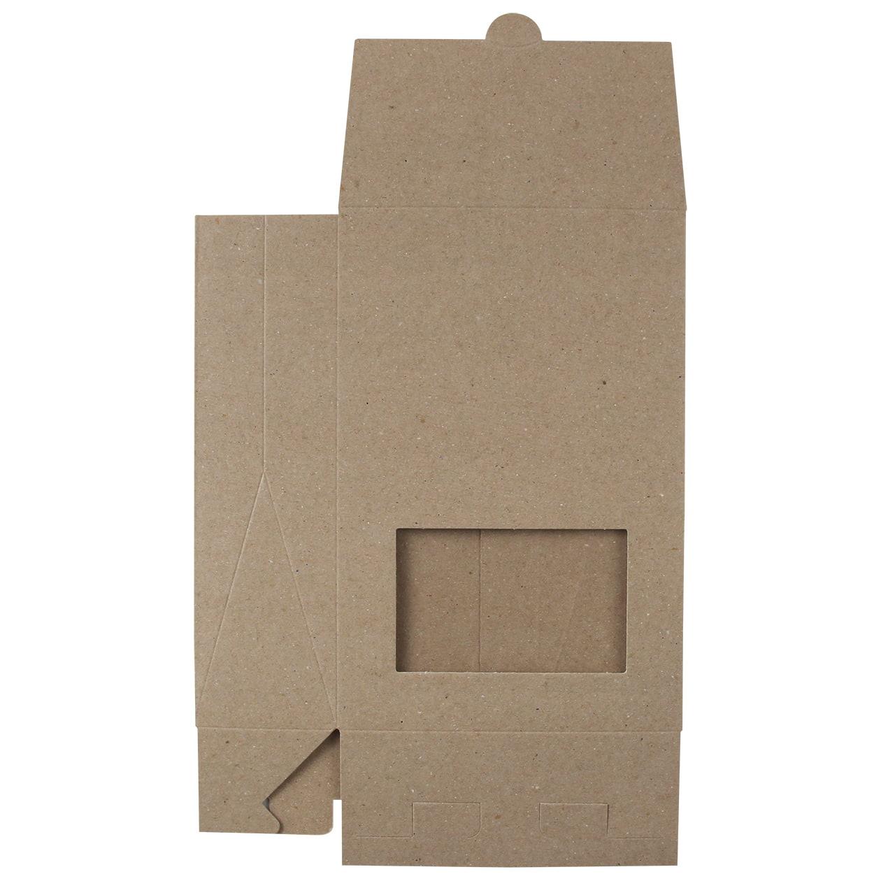 角底箱ロック式120×180×50 窓付 ボード紙 サンド 270g