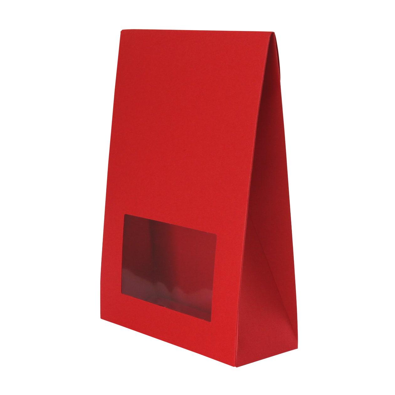 角底箱ロック式120×180×50 窓付 ボード紙 レッド 250g