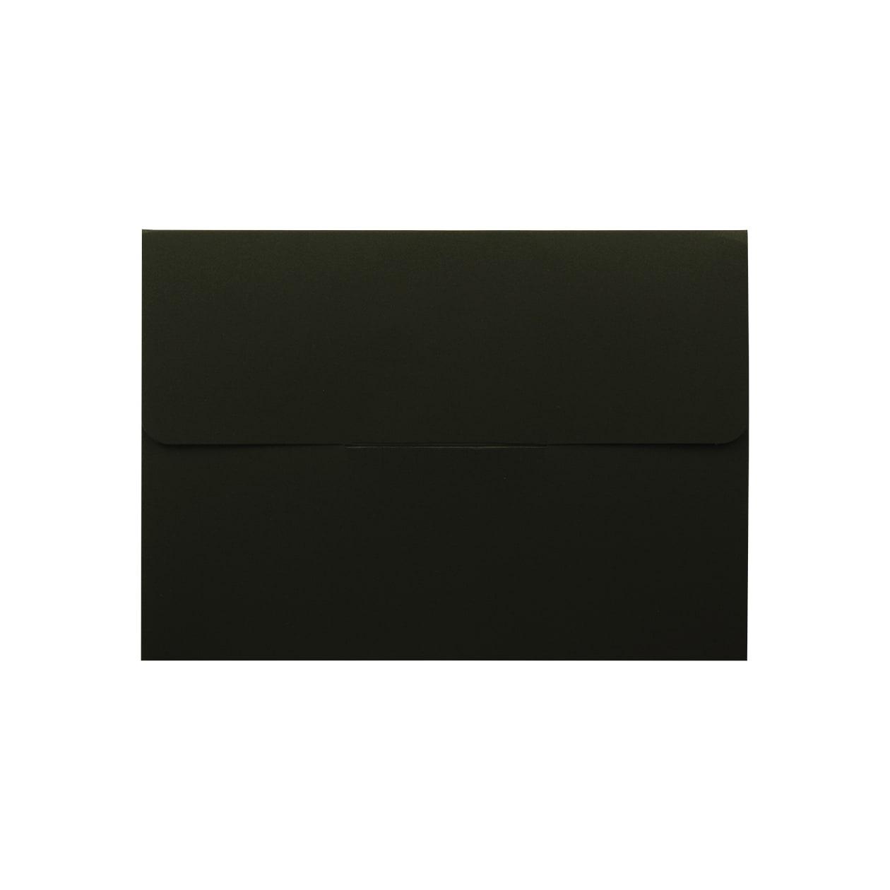 封筒型フォルダーA5用 差込有 ボード紙 ブラック 258.1g マチ6mm