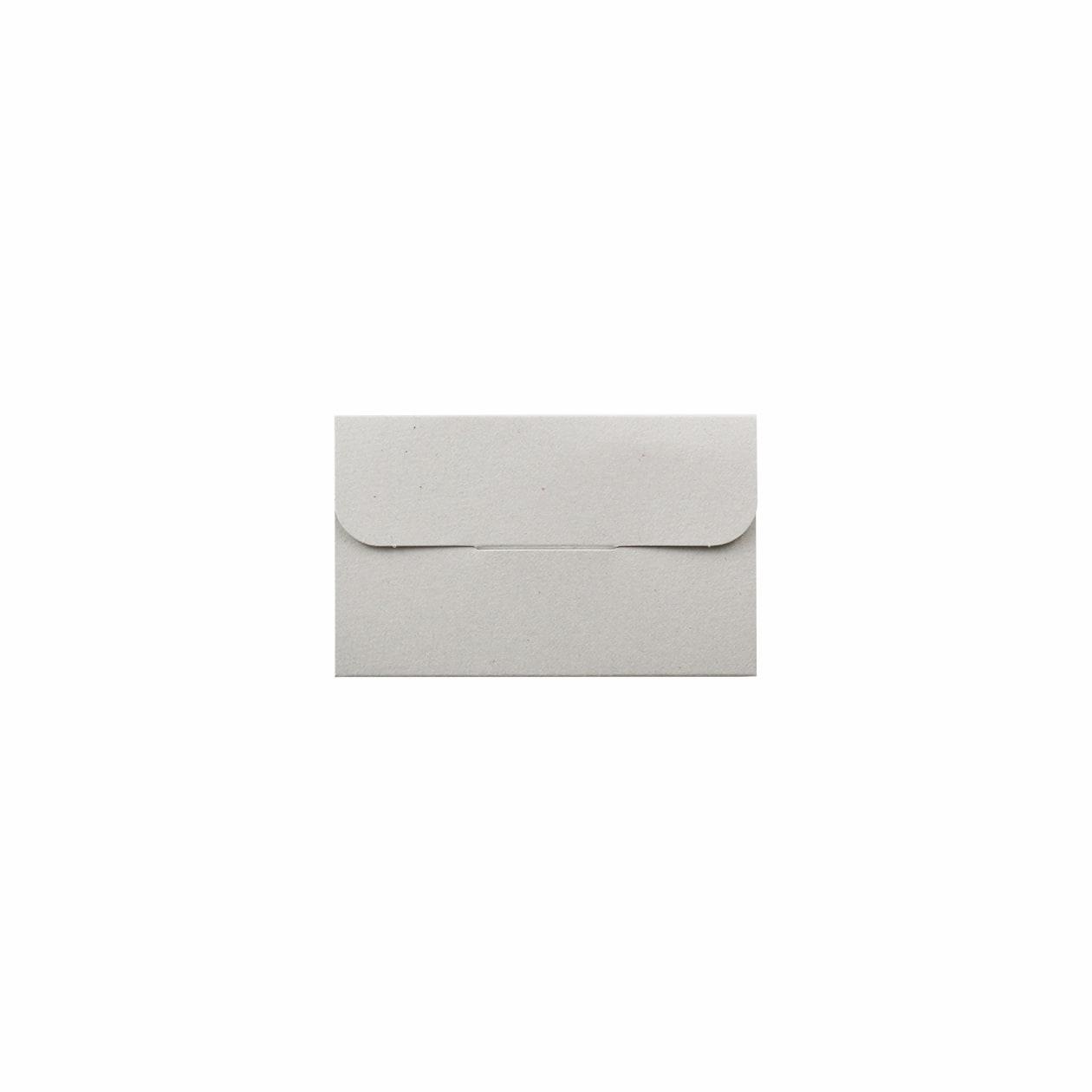封筒型フォルダーネームカード用 差込有 ボード紙 グレー 270g マチ6mm