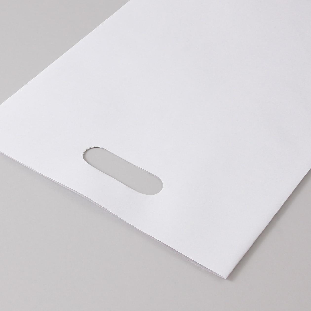 平袋A4用持ち手付 撥水ラップ99 ホワイト 100g