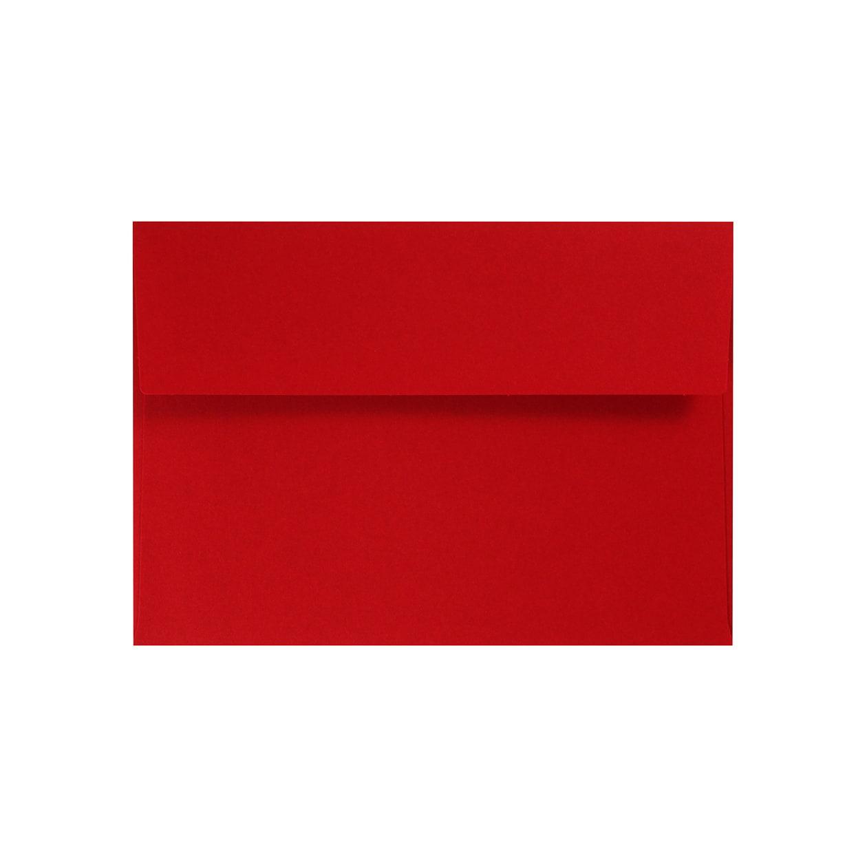 洋2カマス封筒 コットン(NTラシャ) 濃赤(こいあか) 116.3g