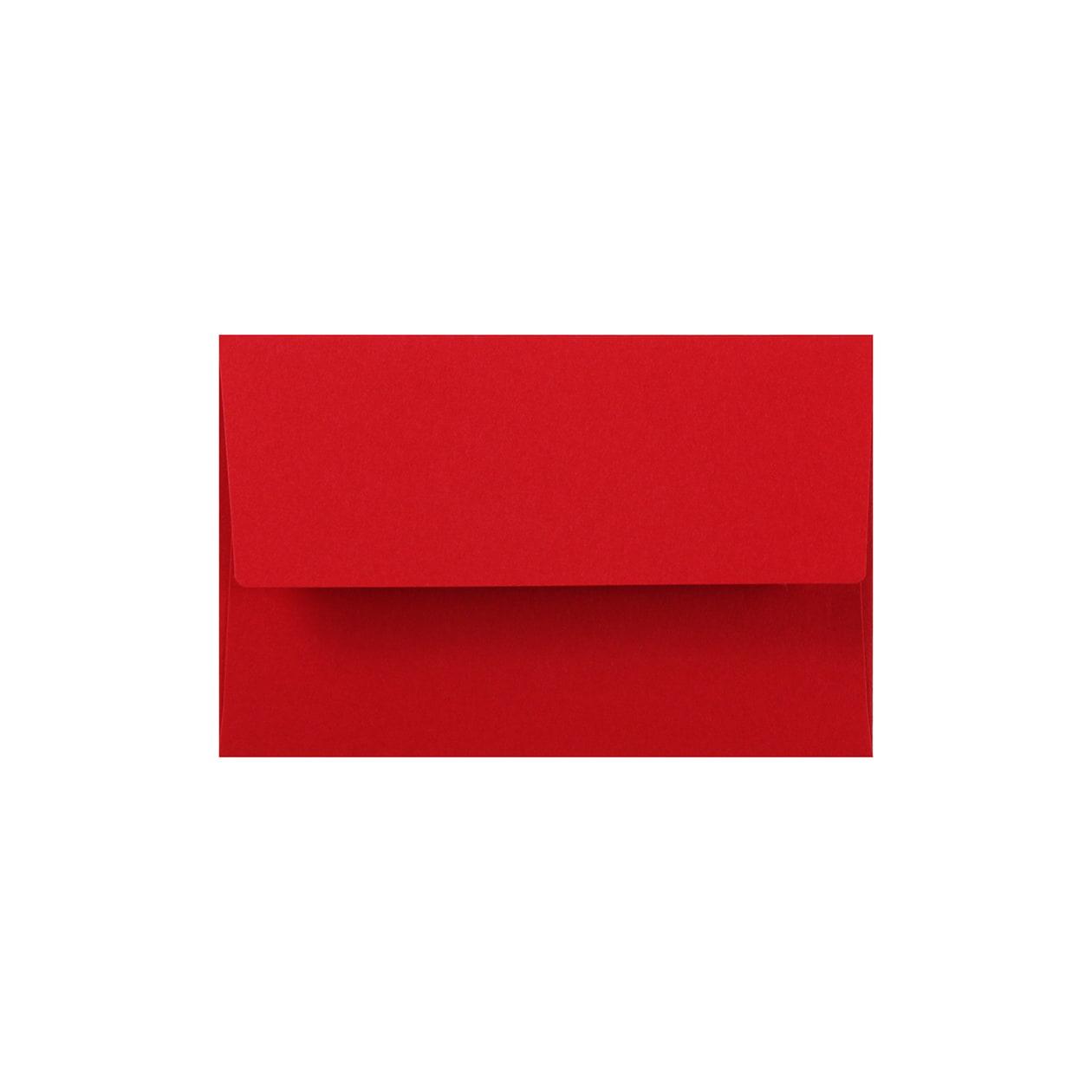 NEカマス封筒 コットン(NTラシャ) 濃赤(こいあか) 116.3g