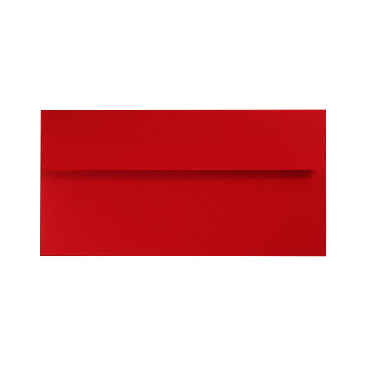長3カマス封筒 コットン(NTラシャ) 濃赤(こいあか) 116.3g