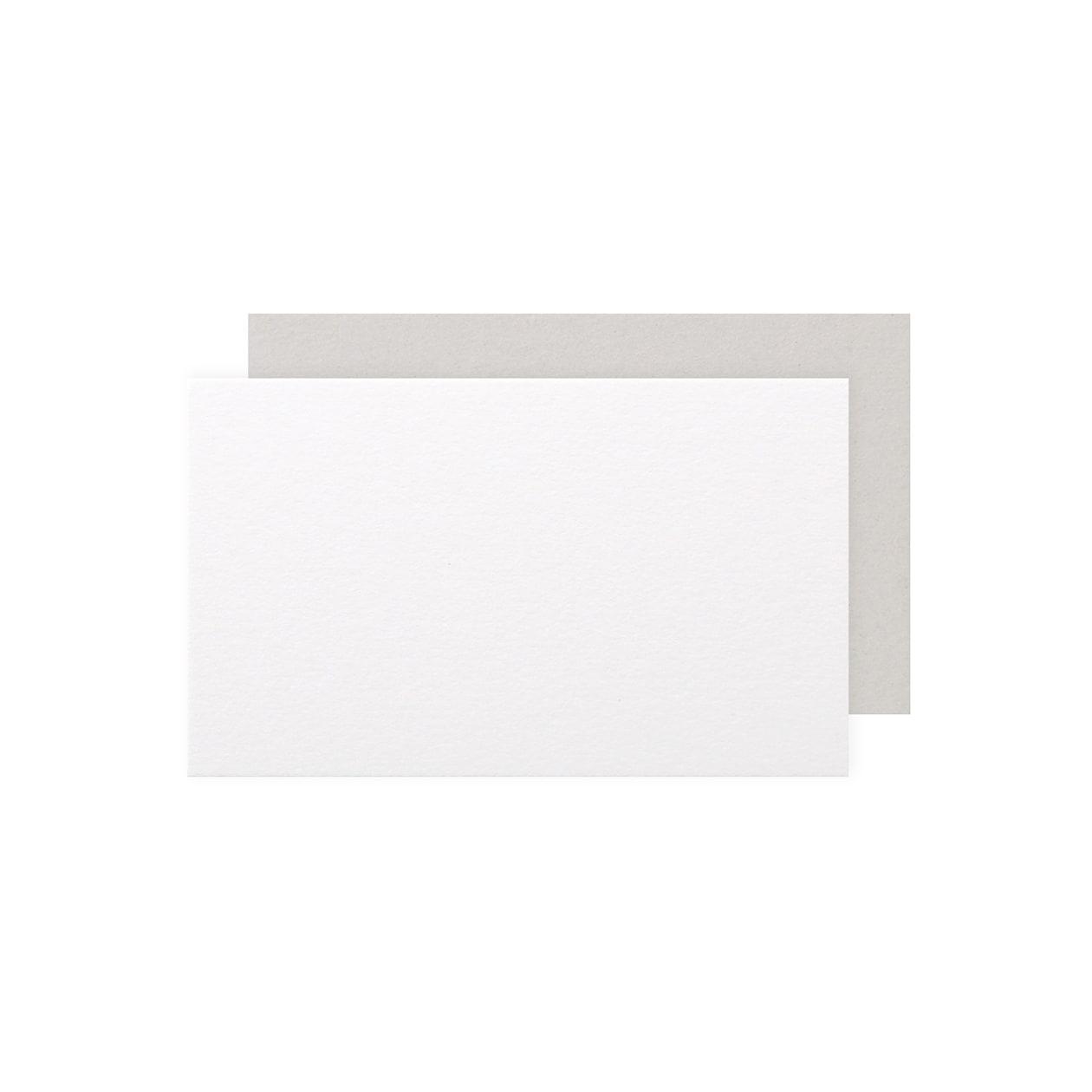 ネームカード 二層合紙 スノーホワイト×グレー 798.8g