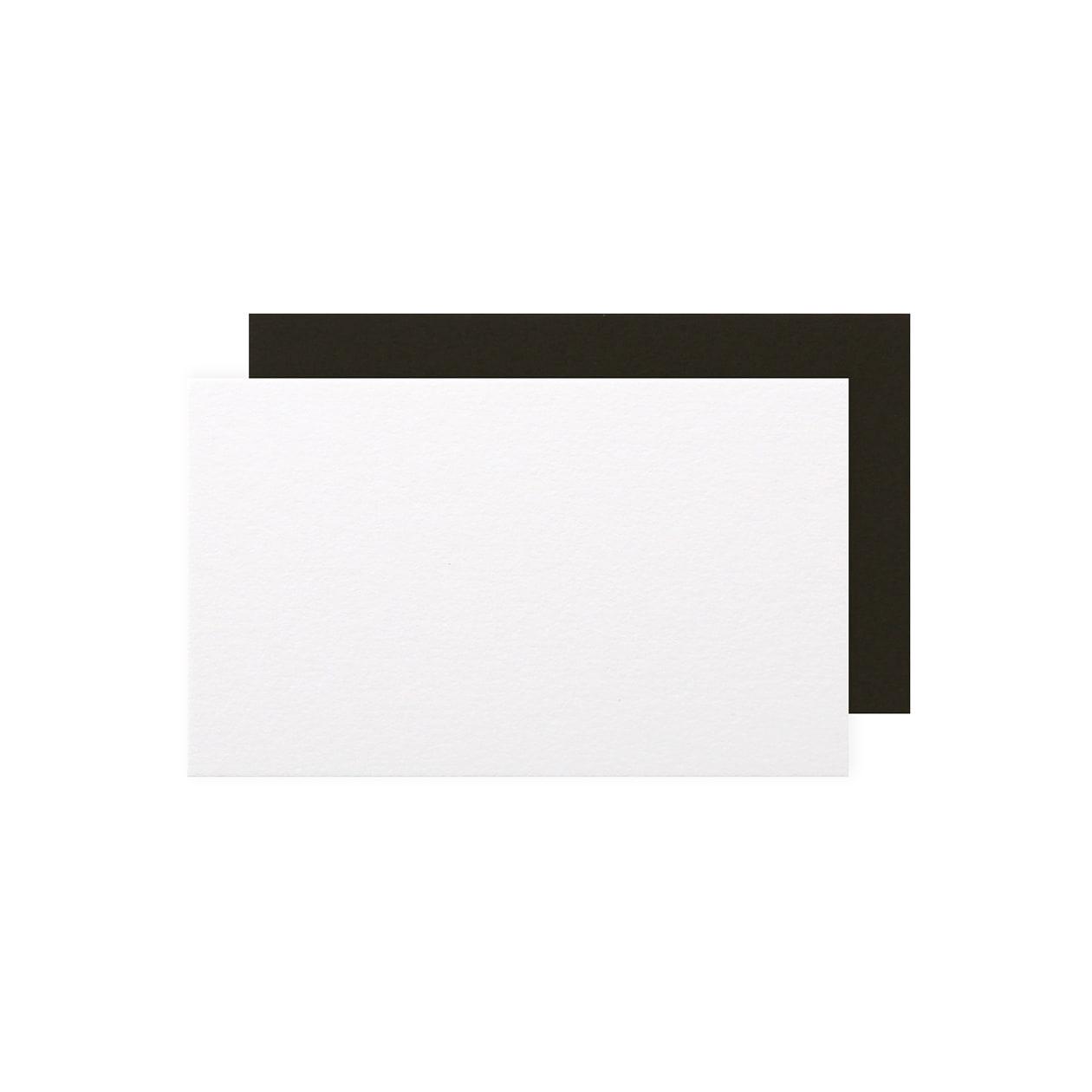 ネームカード 二層合紙 スノーホワイト×ブラック 812.8g