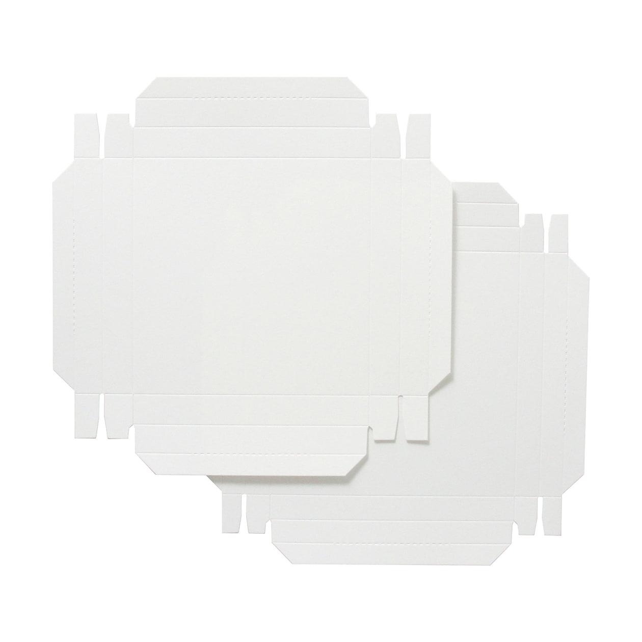 組箱 130×130×15 コットン スノーホワイト 232.8g