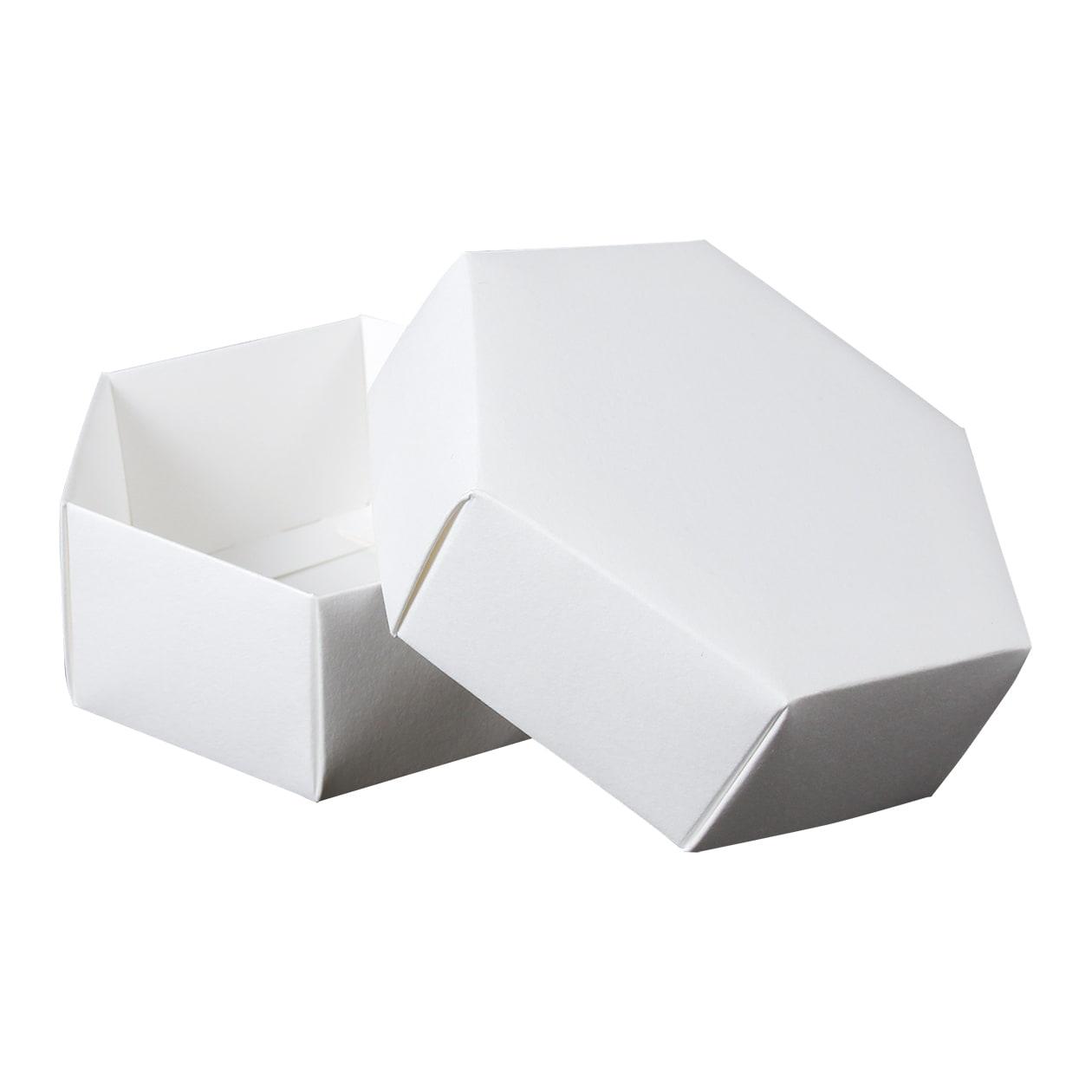 組箱 六角形97×84×38 コットン スノーホワイト 232.8g