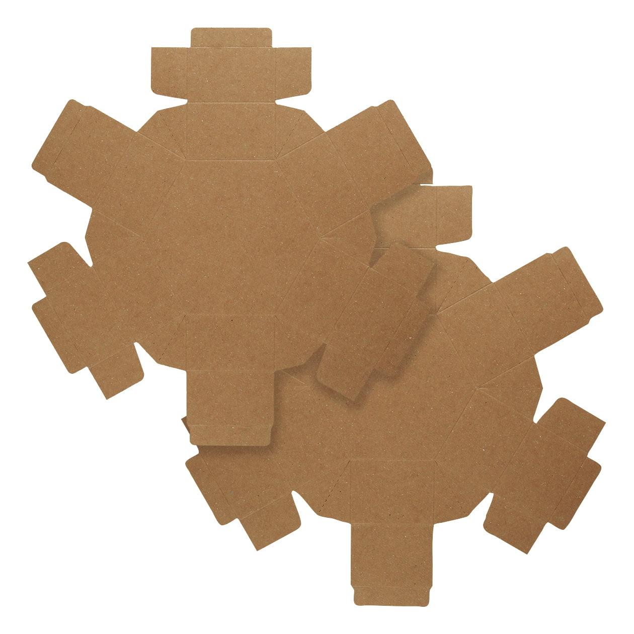 組箱 六角形97×84×38 ボード紙 ブラウン 270g