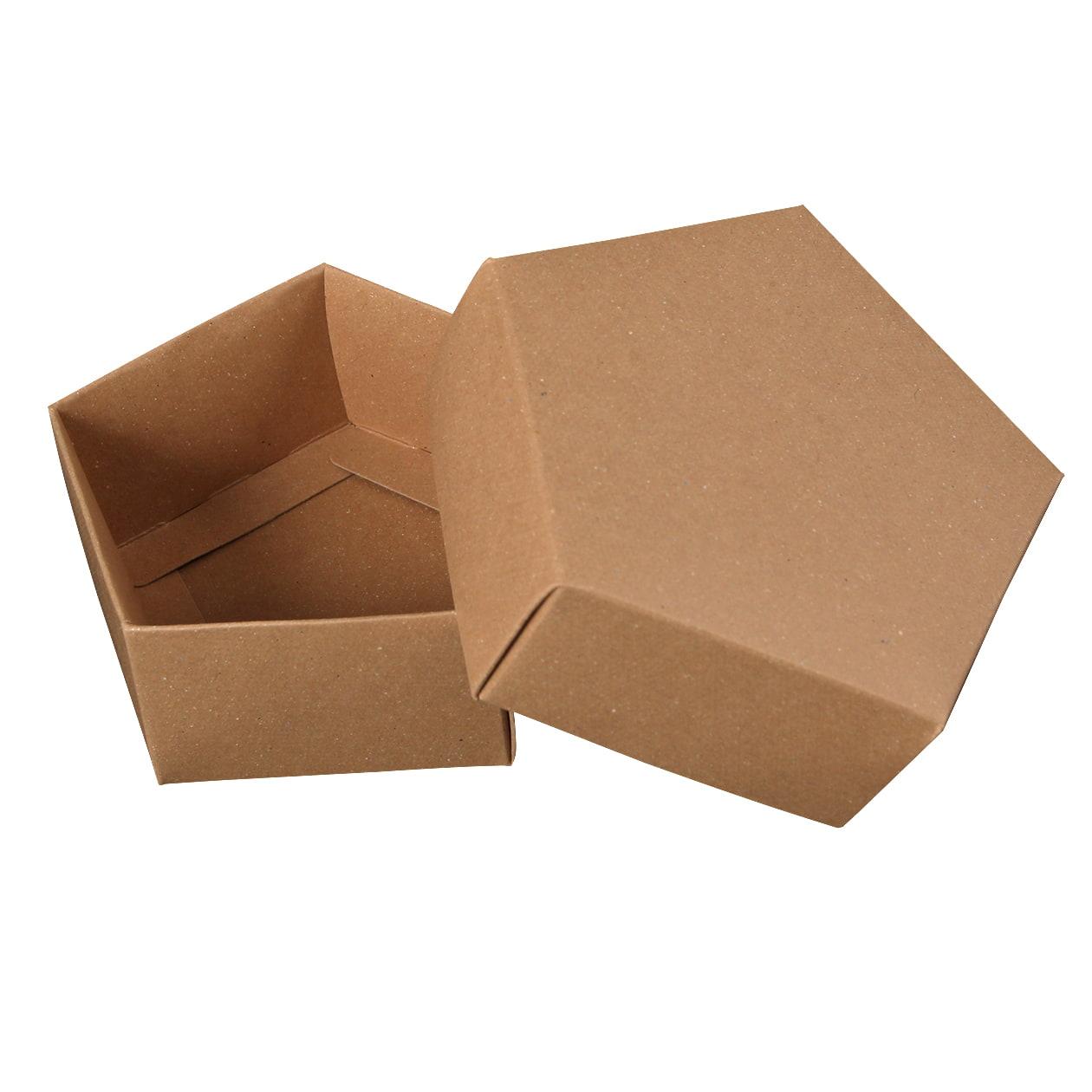 組箱 五角形97×92×38 ボード紙 ブラウン 270g