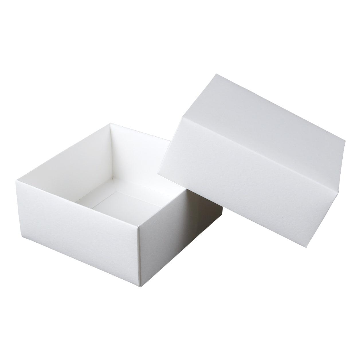 組箱 四角形84×84×38 コットン スノーホワイト 232.8g