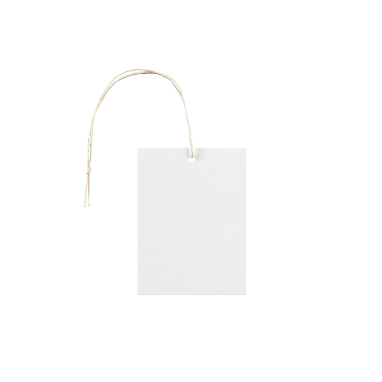 タグ55×75四角形 コットンスノーホワイト 232.8g タグ紐(細)コットン生成