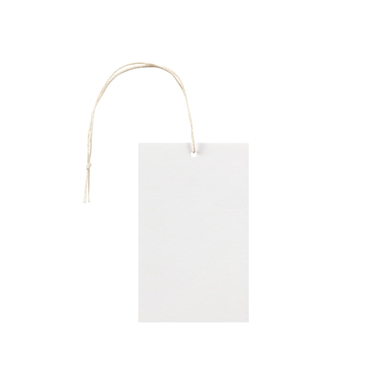 タグ55×90四角形 コットンスノーホワイト 232.8g タグ紐(細)コットン生成