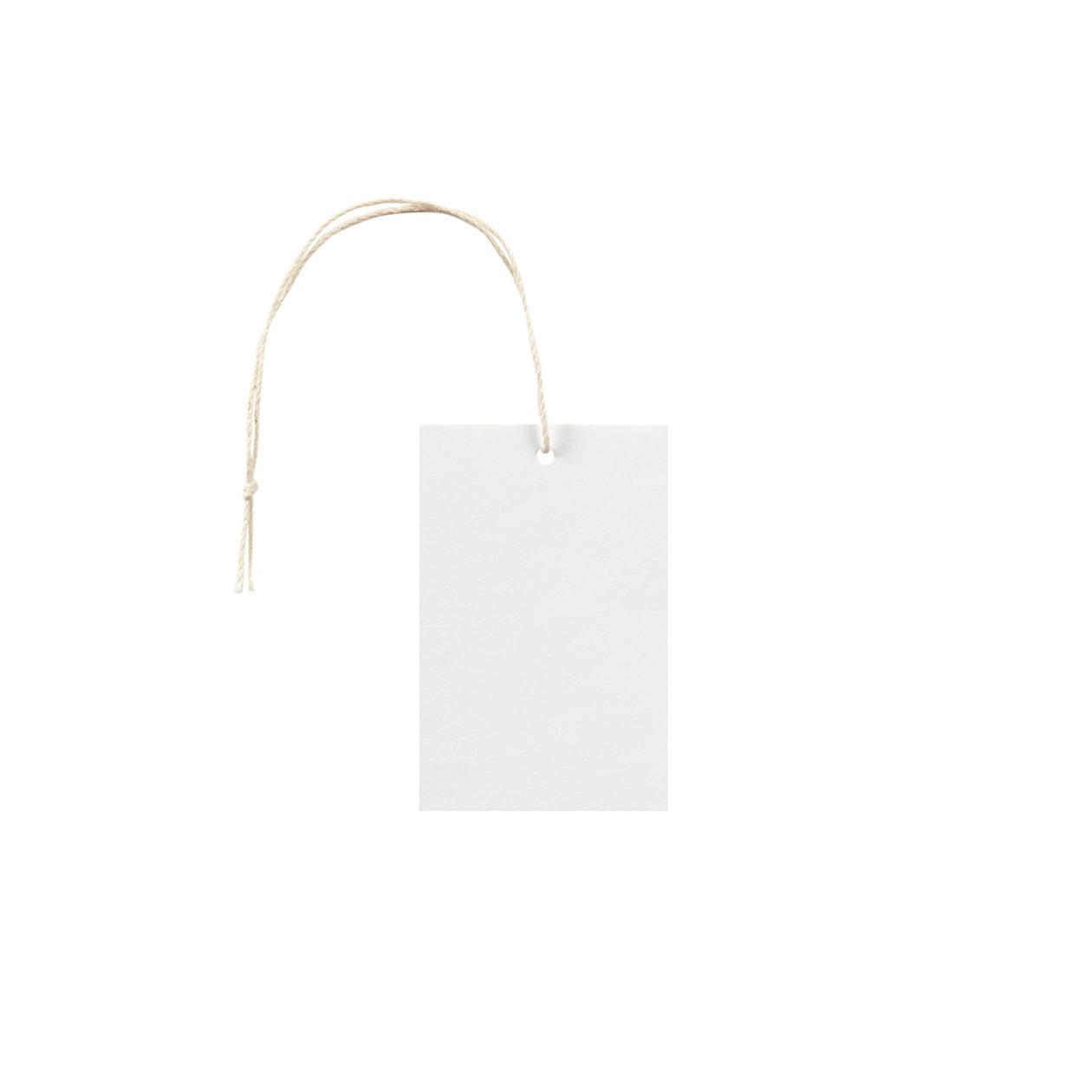 タグ45×70四角形 コットンスノーホワイト 232.8g タグ紐(細)コットン生成