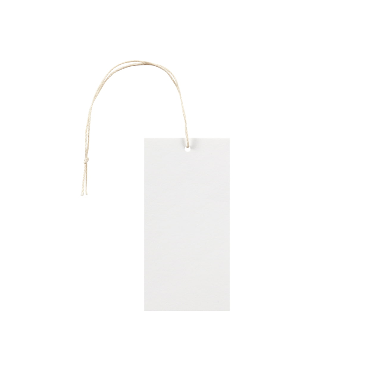 タグ45×90四角形 コットンスノーホワイト 232.8g タグ紐(細)コットン生成