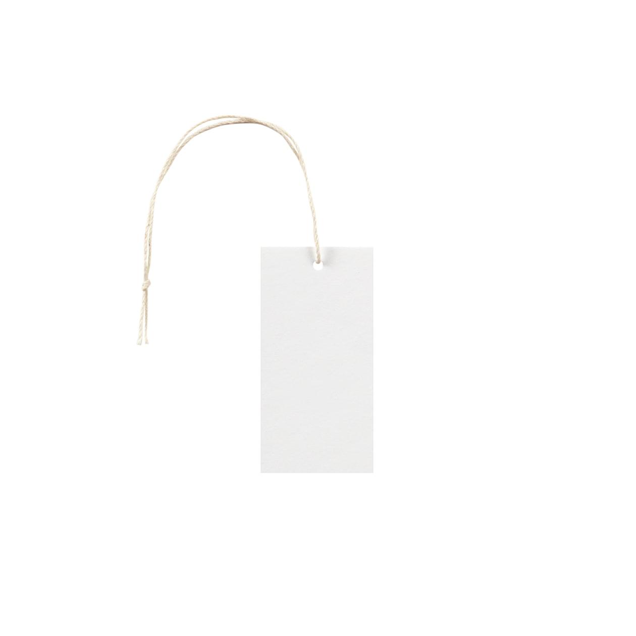 タグ35×70四角形 コットンスノーホワイト 232.8g タグ紐(細)コットン生成