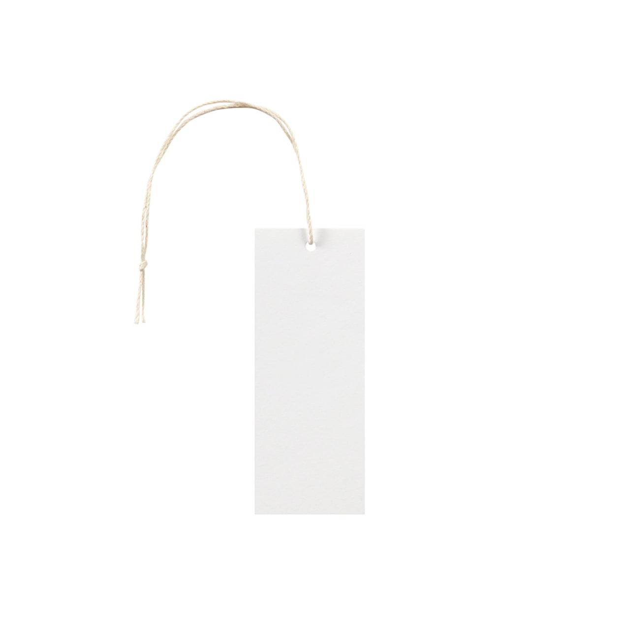 タグ35×90四角形 コットンスノーホワイト 232.8g タグ紐(細)コットン生成